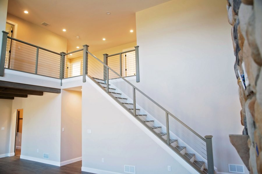 The Main Stairs from great room to 3 bedrooms, office, and 2 full baths on 2nd floor