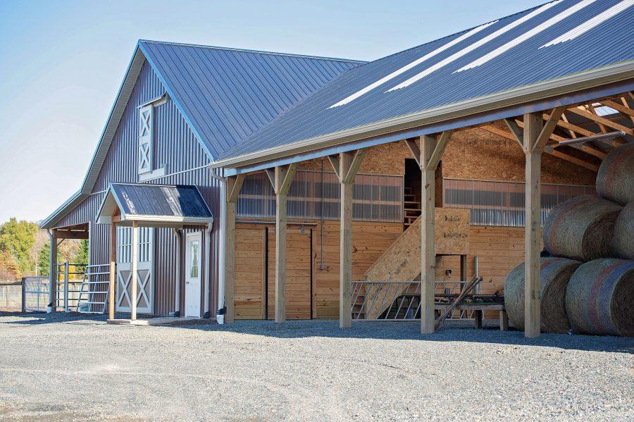 Custom built barn for the working farm in Montgomery County, Pennsylvania.