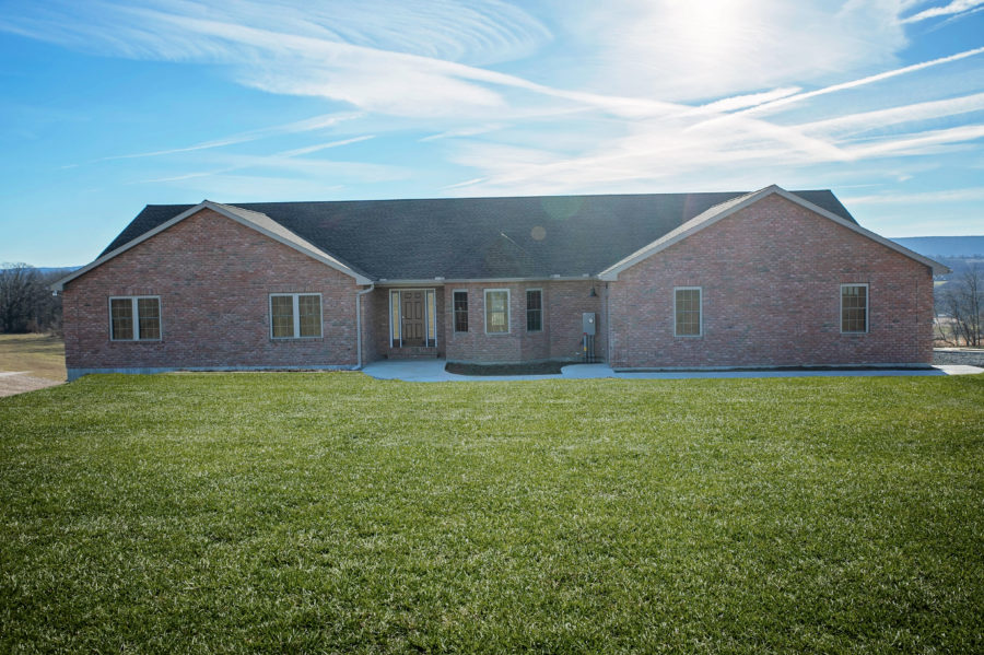 One story custom home build in Schuylkill County